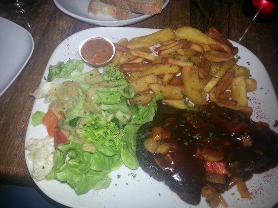 Meet Argentinian Steak House: ribeye steak !!