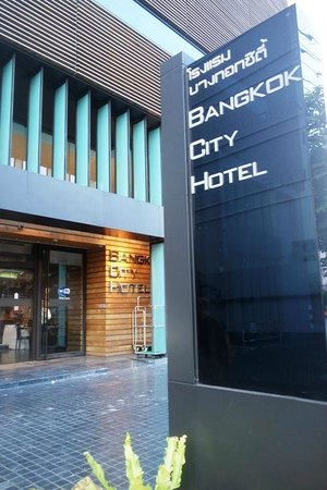 Bangkok City Hotel: From the outside