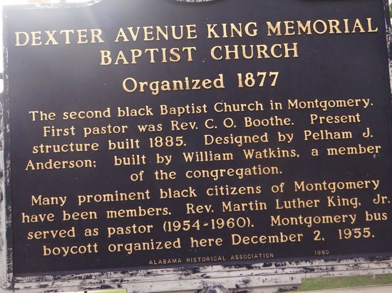 Dexter Avenue King Memorial Baptist Church: sign