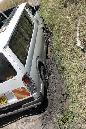 Sand River Masai Mara: mini van oferecida por outros lodges fique atento para não ir nessa