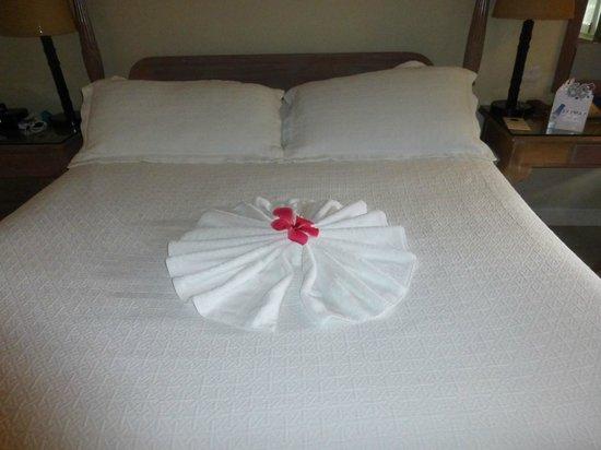 Sandals Halcyon Beach Resort: Towel art