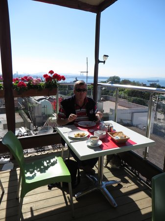 Ambassador Hotel: Breakfast balcony with quite an outlook