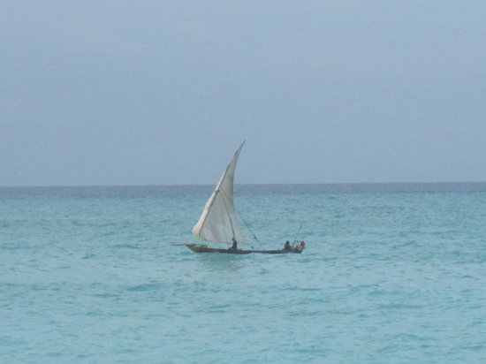 Ras Nungwi Beach Hotel: Dhow on the ocean
