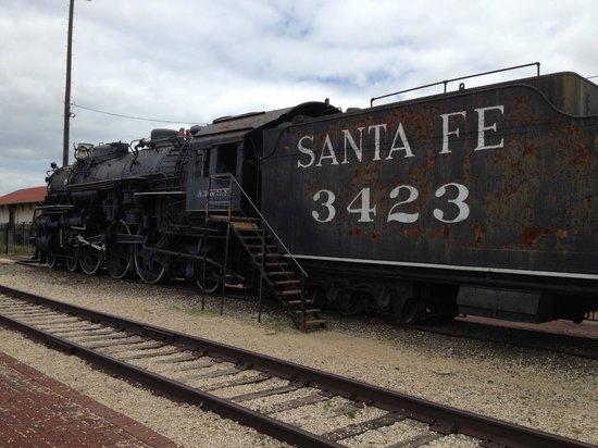 Temple Railroad & Heritage Museum: Old Santa Fe train car to climb aboard- Temple Railroad Musem