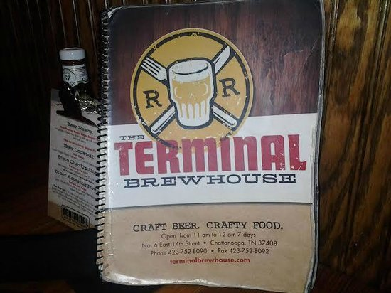 The Terminal Brewhouse : Menu Cover