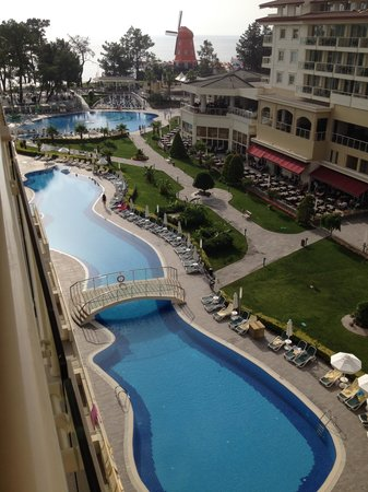 Barut Kemer : evening view from our room