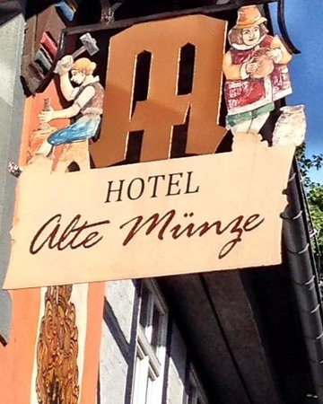 Hotel Alte Münze: the sign
