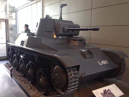 National Museum of Ireland - Decorative Arts & History: Light tank used by Irish troops