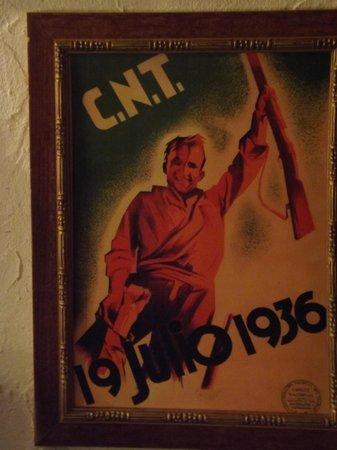 Spanish Civil War Tour: CNT (anarchist Trade Union Federation) poster
