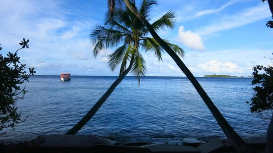 Biyadhoo Island Resort : View from just outside our room