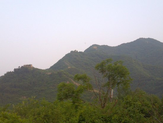 Qingshan Pass Great Wall: 山腹付近の俯瞰
