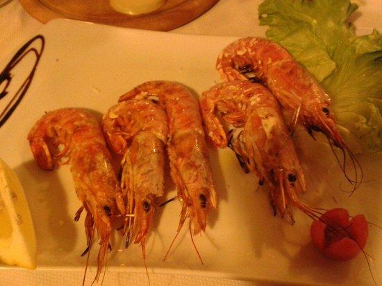 Nerino Dieci Trattoria: также одна из наших закусок-ооочень вкусные креветки
