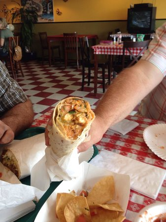 Colima's Mexican Food: This is half of the $8.00 surf and turf burrito!