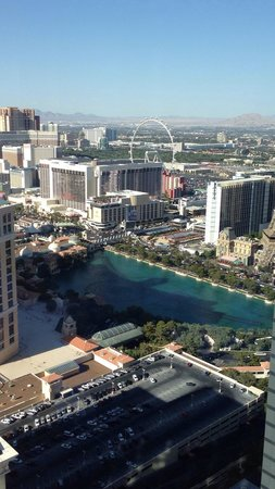 Vdara Hotel & Spa: Day time view from suite on 53rd floor