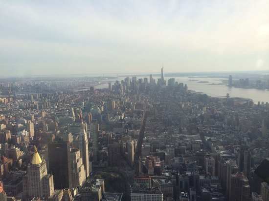 Empire State Building: You may even see Statue of Liberty