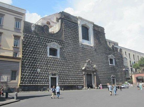 Eglise Gesù Nuovo : façade Gesu nuevo
