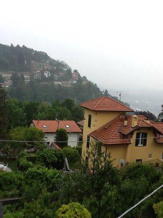 Locanda Milano 1873: Como (in the rain) from our balcony