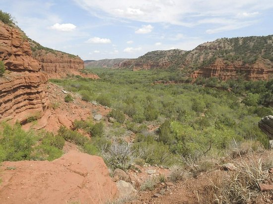 Caprock Canyons State Park: View of canyon from the steep ascent