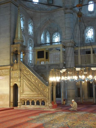 La mosquée Eyüp Sultan (Eyup Sultan Camii) : in the prayer hall