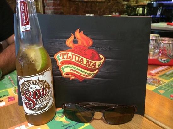 Tijuana: nice beers & menu