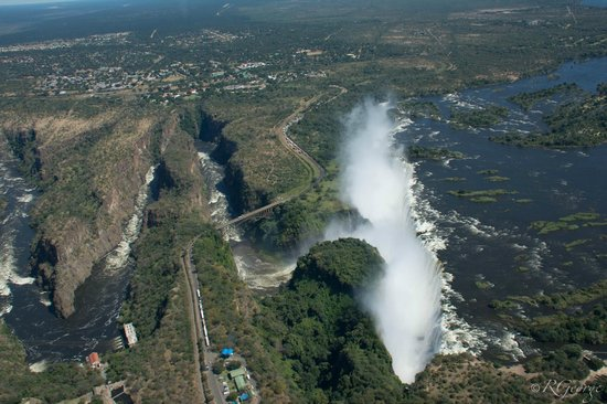 Wilderness Safaris Toka Leya Camp: Victoria Falls from Helicopter