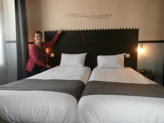 Kyriad Paris 10 - Gare Du Nord : comfortabele bedden