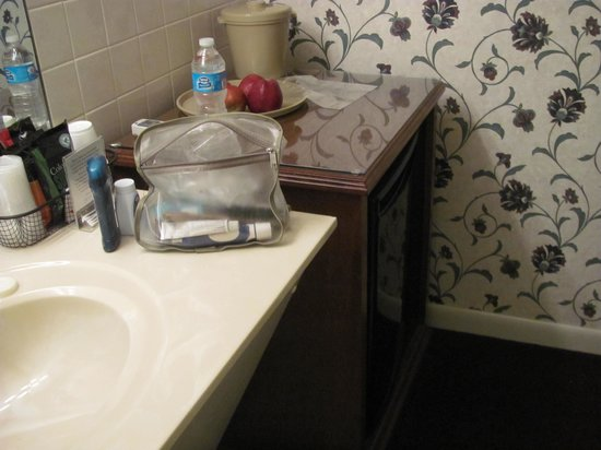 Travelers Rest Motel: Separate lavatory sink and mini-kitchen