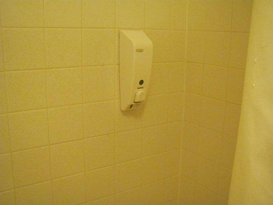 Travelers Rest Motel: Shampoo dispenser