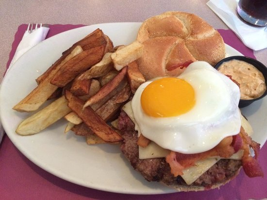 The Wellsboro House: South of the border burger with an egg on top
