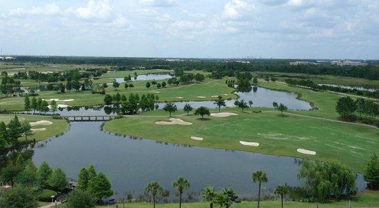 Rosen Shingle Creek : Vue du 10e étage donnant sur le terrain de golf