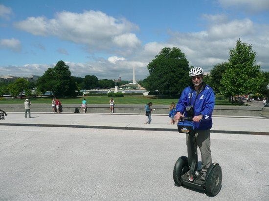 Bike and Roll DC: Bruce J on a Segway near the White House