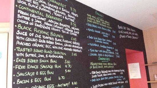 Clervaux Artisan Bakery and Cafe: Menu