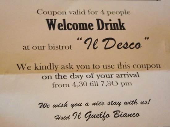 Il Guelfo Bianco: Welcome drink