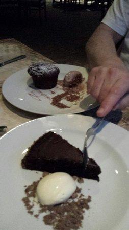 The Lazy Goat: Chocolate dessert. I love it yummy