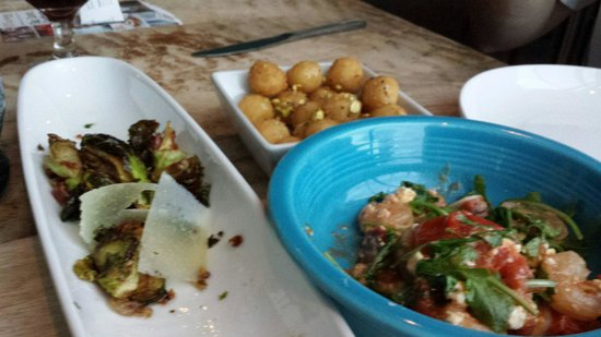 The Lazy Goat: This is a picture of the appetizers that we ordered. All of them were delicious