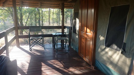 Shindzela Tented Camp: The deck on the tent cabin
