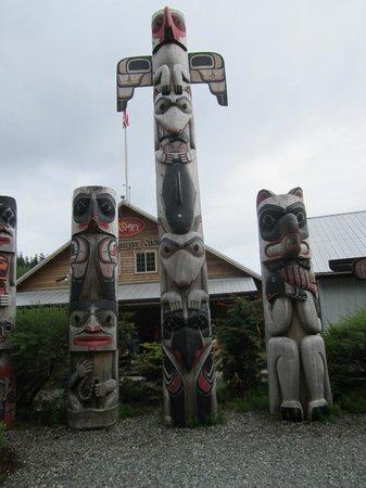 Alaska Rainforest Sanctuary: Totem Poles