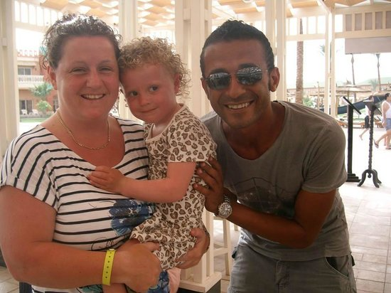 Aqua Blu Sharm: One of the friendly people who sell trips around the pools