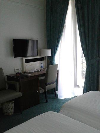 Mayflower Hotel: Cortinas nuevas y limpias