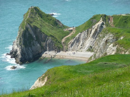 Lulworth Cove and Durdle Door : One of the beaches at Durdle Door