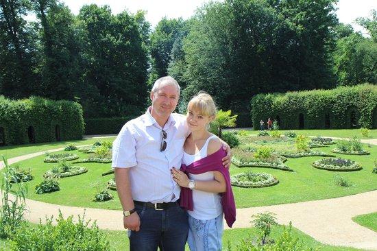 Potsdam's Gardens: с дочкой Кристишей