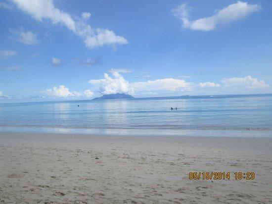 Berjaya Beau Vallon Bay Resort & Casino - Seychelles: View from  beach in front of hotel