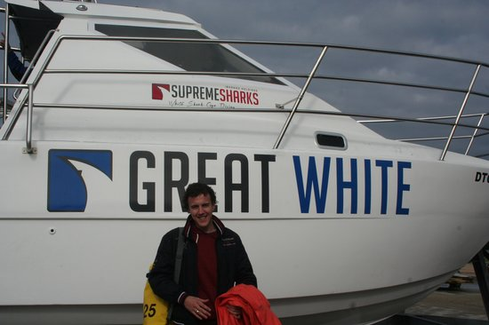 Supreme Sharks: great white boat