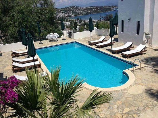 Panorama Hotel Bodrum : havuz surekli temiz ve ilik