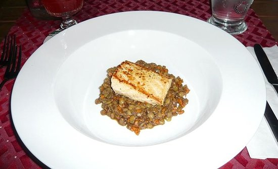 Shannas Cove Resort: Salmon and lentil appetizer