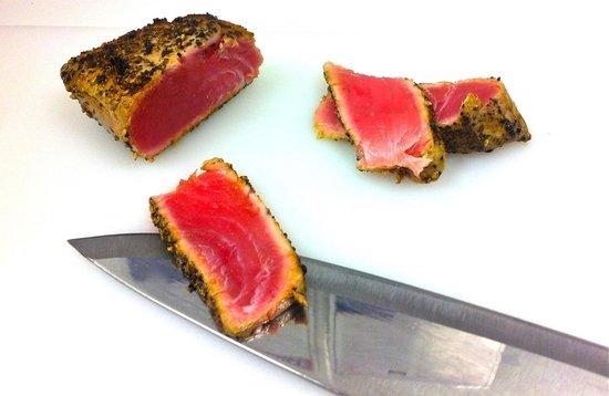 Premium sashimi grade blackened ahi 39 tuna picture of the for Where to buy sashimi grade fish near me