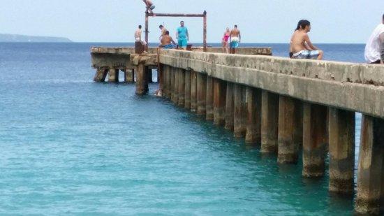 Crashboat Beach: Me ready to jump.