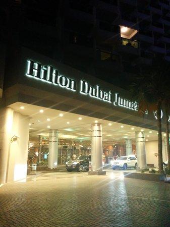 Hilton Dubai Jumeirah : The front of the hotel