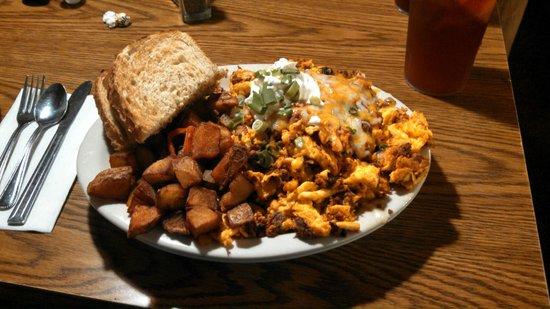 Lone Spur Cafe: Chorizo Scramble - Yum!