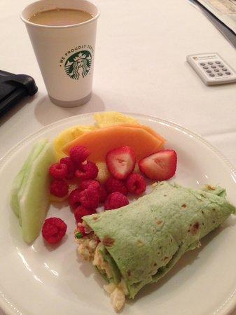 Hilton President Kansas City: a sample of food